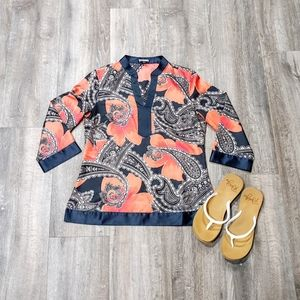 Ann Taylor Factory Paisley Silk Top